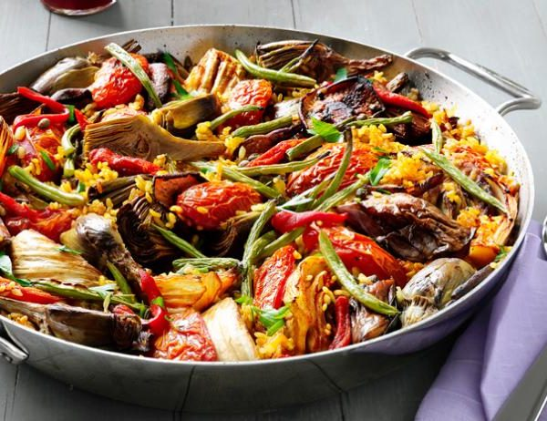 Paella de Verduras (for 2)