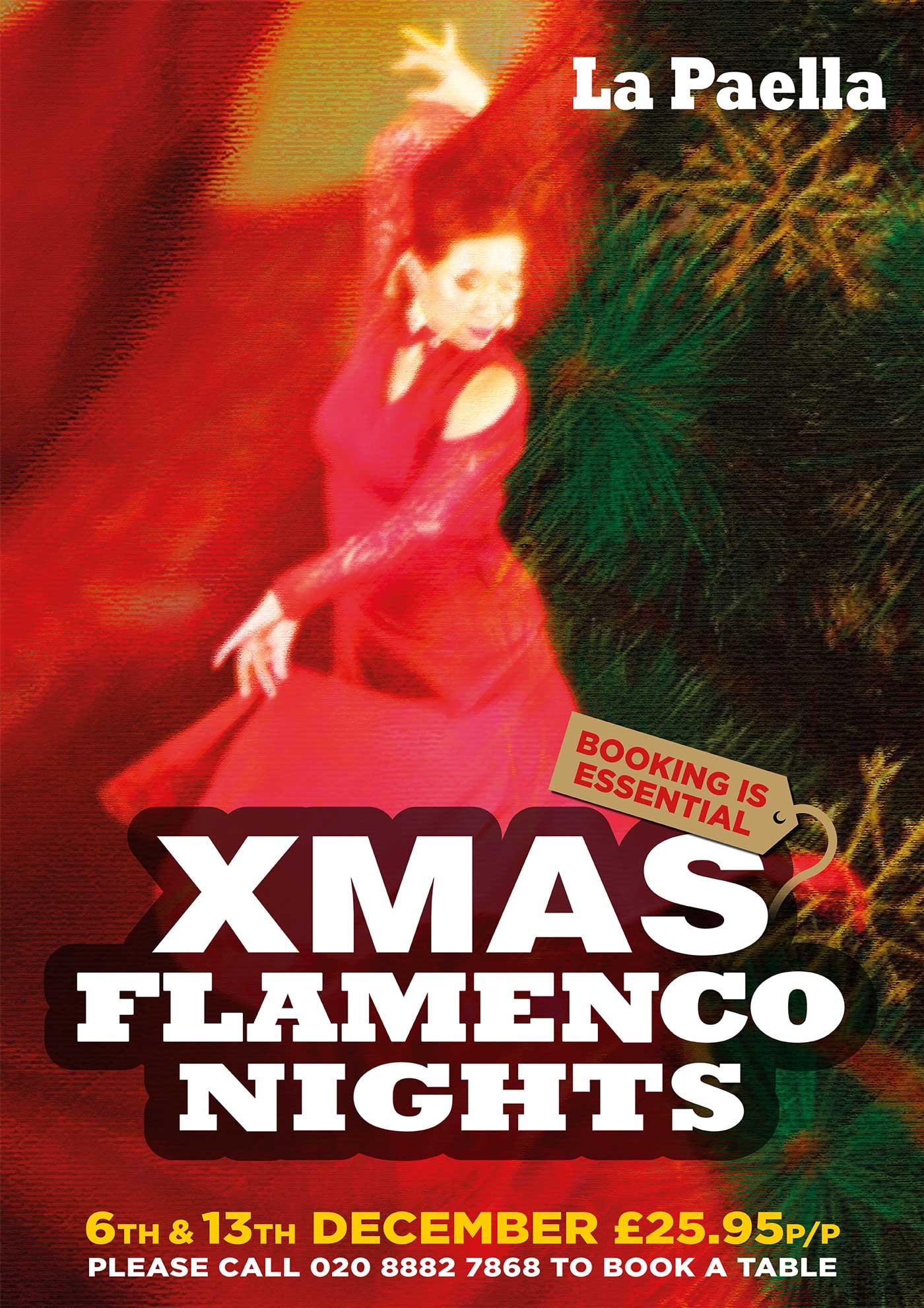 xmas flamenco tapas party la paella tapas bar southgate